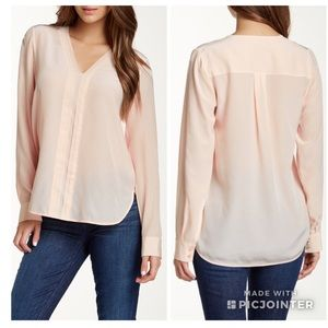 Vince Picot silk blouse in blossom